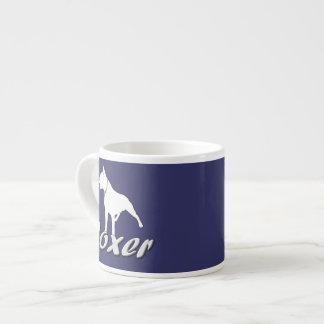 White boxer dog espresso cup