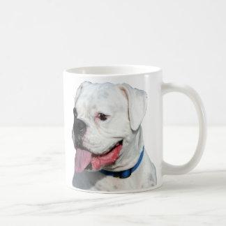White Boxer mug