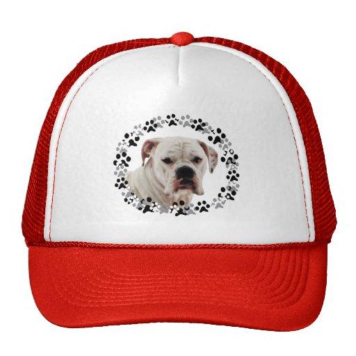 White Boxer Photo Trucker Hats
