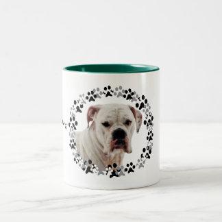 White Boxer Photo Two-Tone Coffee Mug