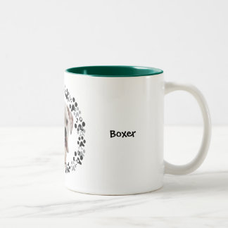 White Boxer Photo Coffee Mug