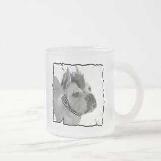 White Boxer punk frosted mug
