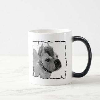 White Boxer punk mug