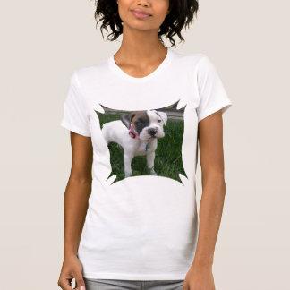 White Boxer Puppy Woman's T-Shirt