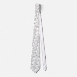White Boxer Tie