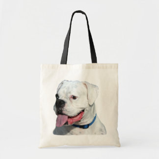 White Boxer tote bag