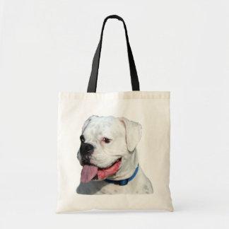 White Boxer tote bag