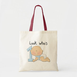 White Boy 1st Birthday Tshirts and Gifts Budget Tote Bag