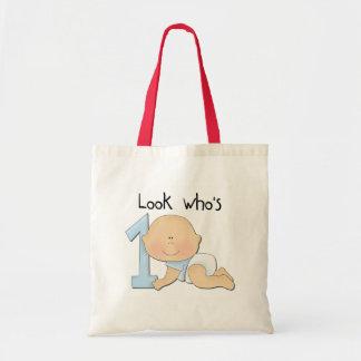 White Boy 1st Birthday Tshirts and Gifts Budget Tote Bag