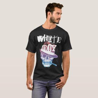 White Boy Simple Skull 2 T-Shirt