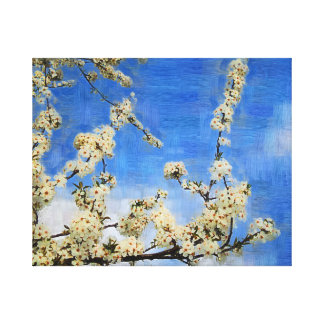 White Branch Wrapped Canvas Oil Painting Gallery Wrap Canvas