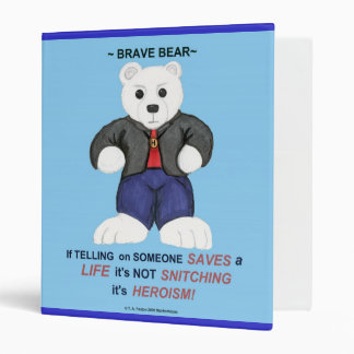 White Brave Bear Binder
