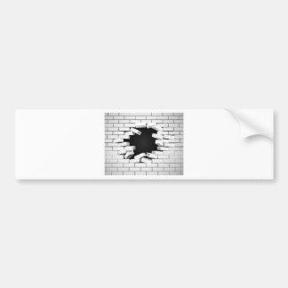 White Breaking Wall Bumper Sticker