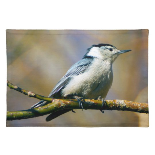 White Breasted Nuthatch Cloth Placemat