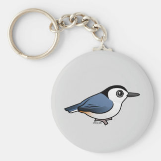 White-breasted Nuthatch Key Ring