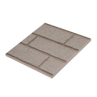 White Brick And White Mortar Tile