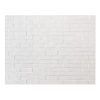 White Brick Wall Grey Bricks Texture Grunge Postcard