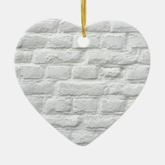 White Bricks Ceramic Heart Decoration