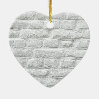 White Bricks Christmas Ornament