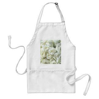 White Bridal Bouquet Apron - Customizable