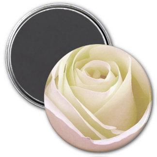 White Bridal Rose 7.5 Cm Round Magnet