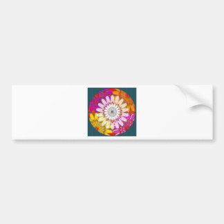 WHITE bright SUN Chakra Sunflower Yoga Mandala FUN Bumper Stickers