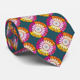 WHITE bright SUN Chakra Sunflower Yoga Mandala FUN Tie