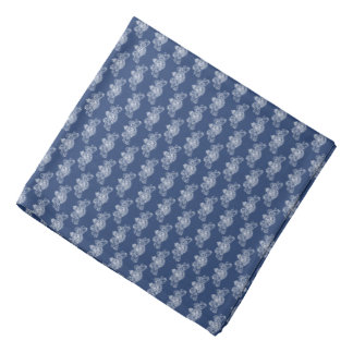 White British Coat of Arms Blue Lapel Pocket Bandana