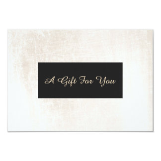 White Brushed Marble Elegant Spa Gift Certificate Card