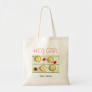 White Budget Tote bag with sweet pies/cupcakes