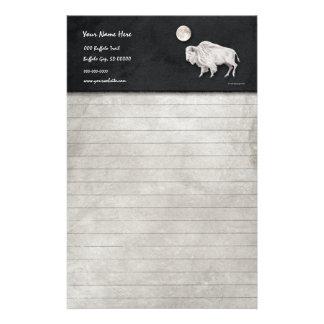 White Buffalo Full Moon Lined Customised Stationery