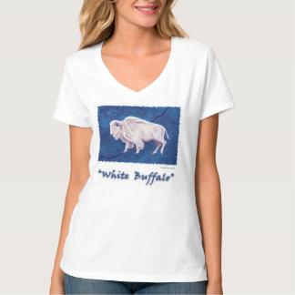 White Buffalo Full Moon on Blue T-Shirt