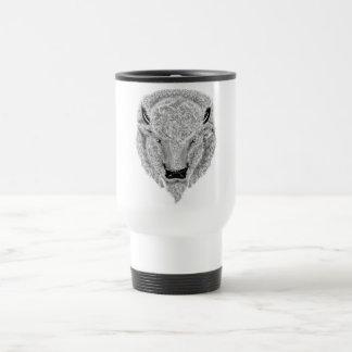 White Buffalo Head Mug