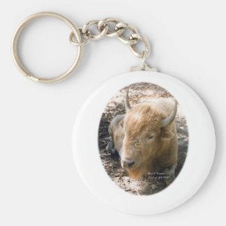White Buffalo Key Ring