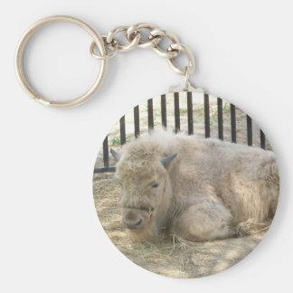 White buffalo Keychain