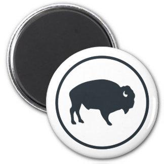White Buffalo Outdoors Round Magnet
