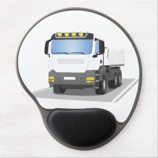 white building sites truck gel mouse mat