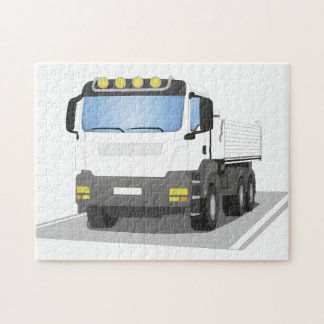 white building sites truck jigsaw puzzle