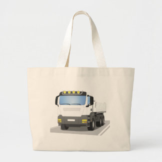 white building sites truck large tote bag
