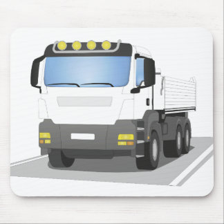 white building sites truck mouse pad