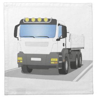 white building sites truck napkin