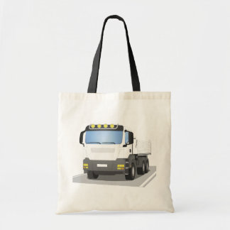 white building sites truck tote bag
