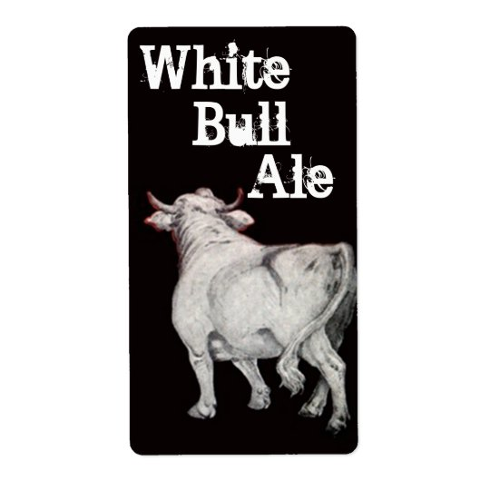 White Bull Ale Homebrewing Beer Brew Bottle Label