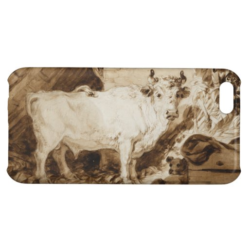 White Bull and Dog in a Stable by Fragonard iPhone 5C Case