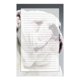 White Bull dog Stationery