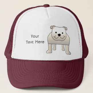White Bulldog Trucker Hat