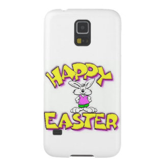 White Bunny Happy Easter Galaxy S5 Case
