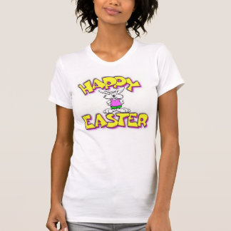 White Bunny Happy Easter T-Shirt