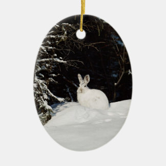 White Bunny Rabbit Wildlife Holiday Decorations
