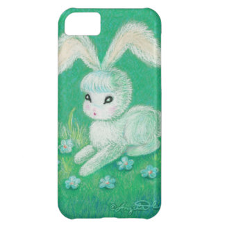 White Bunny Rabbit With Floppy Ears iPhone 5C Covers